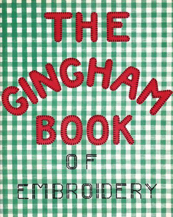 Gingham Book of Embroidery through My Vintage Mending