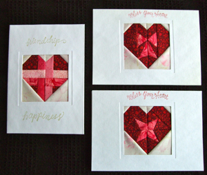 Paper Pieced Heart Cards by Carol Doak