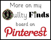 Quilty Finds Pinterest Board