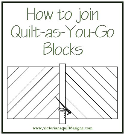 Quilt-as-You-Go Instructions Finishing Instructions from Victoriana Quilt Designs