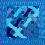 Ocean Waves Pieced-by-number Quilt Pattern by Benita Skinner from Victoriana Quilt Designs