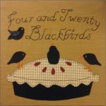 Four & Twenty Blackbirds Free Quilt Block by Rhonda McCray from Farmhouse Threads