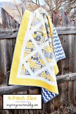 4-Patch Slice Free Quilt Pattern by Lindsey from Inspiring Creations