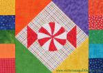A Touch of Fun! Free December Peppermint Block by Benita Skinner through Quilty Finds