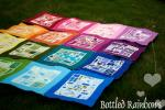 Bottled Rainbows Quilt Tutorial by Rachel from Stitched in Color