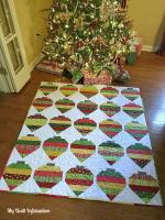 Christmas Adorned Quilt Tutorial from Kelly Young of My Quilt Infatuation