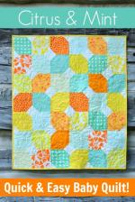 Citrus Mint Free Baby Quilt Tutorial by Lindsay Conner from Craft Buds
