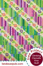 Climbing Clematis Vine Free Quilt Pattern by Jean Ann Wright and Janet Houts through Laudauer Publishing