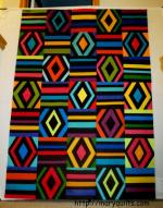 Diamonds and Rails Free Quilt Pattern from Mary Quilts