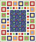 Dino-Mite Free Quilt Pattern by Jocelyn Ueng through Fat Quarter Shop