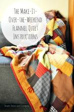 The Make-It-Over-The-Weekend Flannel Quilt Tutorial by Liz through Simple Simon and Company