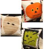 Jack-O-Lantern, Mummy & Monster Free Pillow Patterns from JoAnn Fabric & Craft Stores
