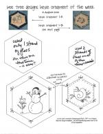 Hexie Ornament Patterns by Cyndi from Bee Tree Designs