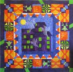HoWlinG HauNteD HoUsE Free Quilt Pattern by Marjory from Peck's Pieces