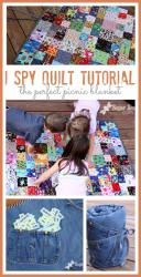 I Spy Quilt/Game Tutorial by Mandy Beyeler from Sugar Bee Crafts