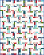Interlock Jelly Roll Free Quilt Pattern by Krystal Jakelwicz from Lets Quilt Something