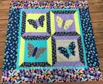 Painted Wings Free Butterfly Quilt by Debby Kratovil