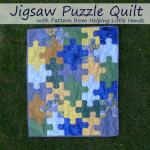 Jigsaw Puzzle Quilt Tutorial by Polly from Pieces by Polly