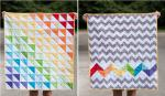 Easy Rainbow Baby Quilt Tutorial from Stitched by Crystal