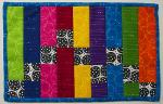 Rainbow Steps Mug Rug Tutorial by Jennifer Houlden from Quilts By Jen