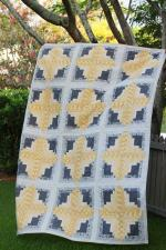 Rectangle Log Cabin Quilt Tutorial by Kirsty through Bonjour Quilts