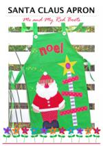 Santa & Mrs. Claus Christmas Free Apron Pattern by Antonie Alexander from the The Red Boot Quilt
