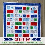 Scooter Free Quilt Pattern by Lindsey Weight from Fortworth Fabric Studio