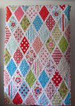 Sweet Divinity Diamond Quilt by Johanna Wilke through The Quilted Fish