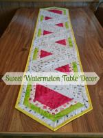 Sweet Watermelon Table Runner Tutorial by Lorna McMahon through Sew Can She