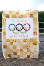 The Olympics - Go for the Gold Quilt Tutorial by Natalie Smith from Natalie Ever After