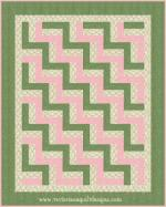Beginner's Baby Rail Fence Free Quilt Pattern by Benita Skinner from Victoriana Quilt Designs