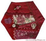 Crazy Quilt Monthly Memories February Block by Benita Skinner through Vintage Embellishments