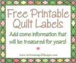 Free Printable Quilt Labels by Benita Skinner from Victoriana Quilt Designs