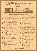 Quilting Resources at the Victoriana Quilt Designs Library