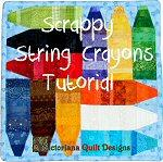 Scrappy String Crayons Quilt Tutorial by Benita Skinner from Victoriana Quilt Designs