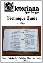 Free Printable Quilting How-to Book by Benita Skinner from Victoriana Quilt Designs
