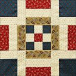Westering Women Block 1 Independence Square by Becky Brown through Civil War Quilts