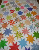 Wonky Scrappy Star Quilt Tutorial by Cathy Erickson from Blueberry Patch