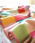 Woolly Patchwork Blanket by Beata from RoseHip