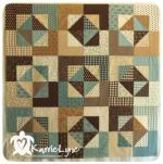 Blueberry Chocolate Squares Quilt Tutorial by Karrie Lynne Winters through Moda Bake Shop
