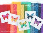 Butterfly Charm Block Free Paper Piecing Patterns by Nicole Young from Lillyella Stitchery