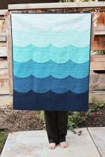Deep Blue Sea Baby Quilt Tutorial by Erica from Kitchen Table Quilting