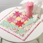 Floral Bouquet Free Candle Mat Pattern from Quilters World Magazine