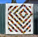 Four Patch Charm Quilt with Tutorial by Kathy from Tamarack Shack