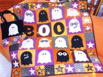 Ghosts & Ghouls Free Quilt Wall-hanging Pattern by Antonie Alexander from The Red Boot Quilt Company