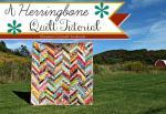 Scrappy Herringbone Quilt Tutorial by Maureen Cracknell