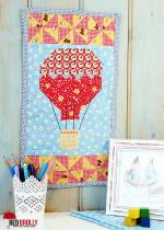 Hot Air Balloon Free Quilt Block from Red Brolly