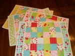 Jelly Roll Placemats Tutorial by Sherri from A Quilting Life