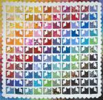 Rainbow Kittens Quilt Tutorial by Sally from The Objects of Design