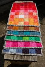 Pixelated Spectrum Placemats Tutorial by Sarah Cooper from Coopcrafts